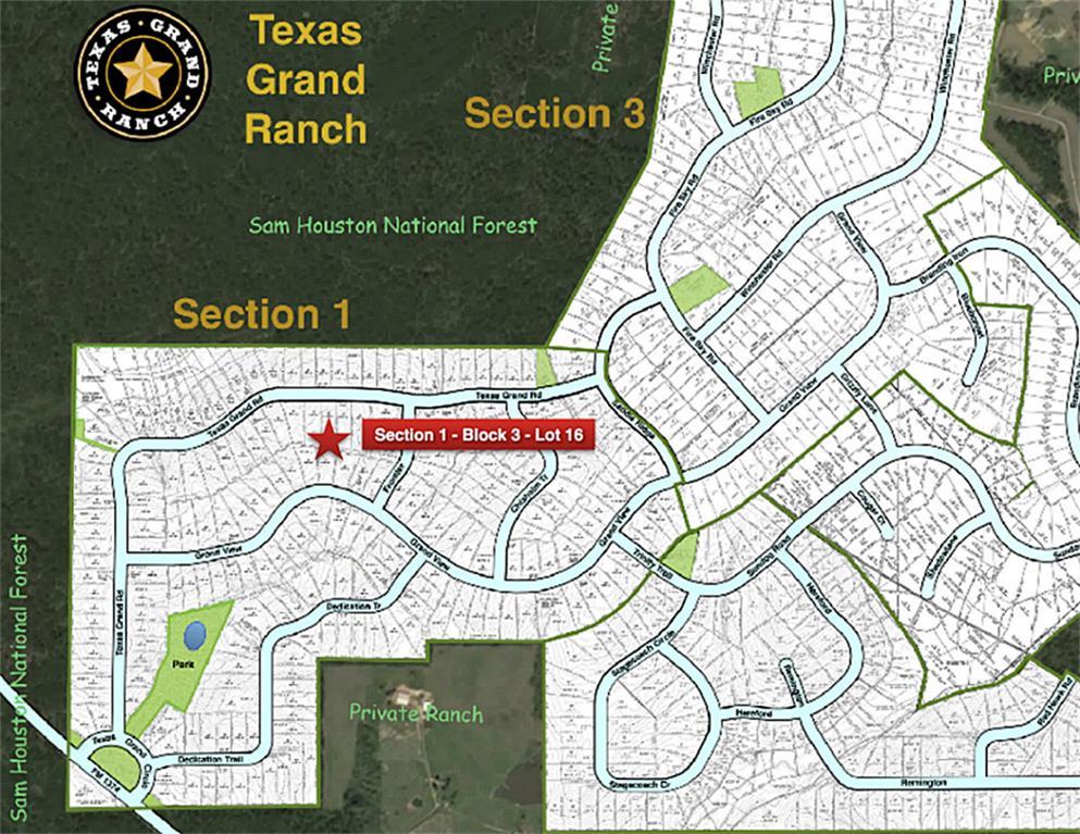 Texas Grand Ranch Map 1 3 16 Texas Grand Rd, Huntsville, TX 77340   HAR.com